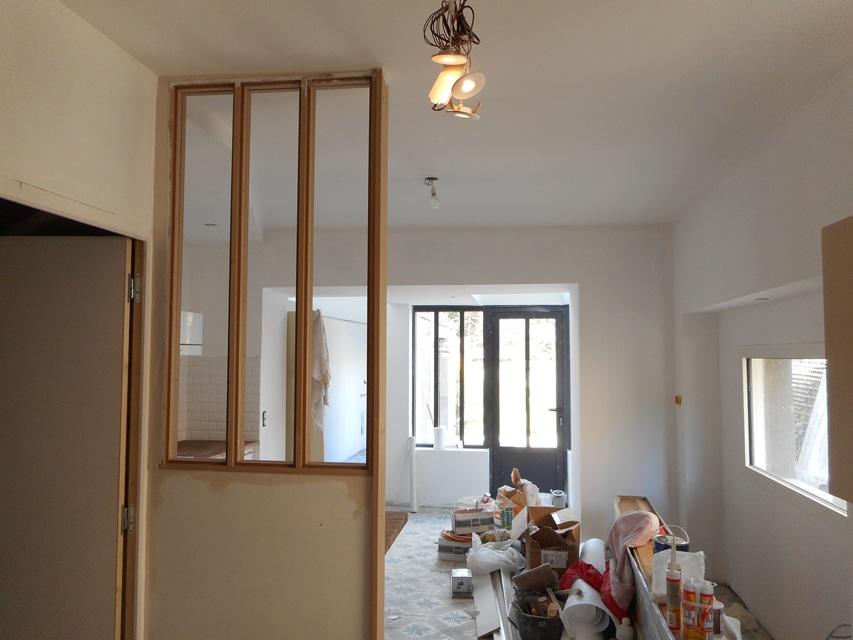 installation cuisine et cr ation d 39 une verri re niort schillaci menuisier plaquiste. Black Bedroom Furniture Sets. Home Design Ideas